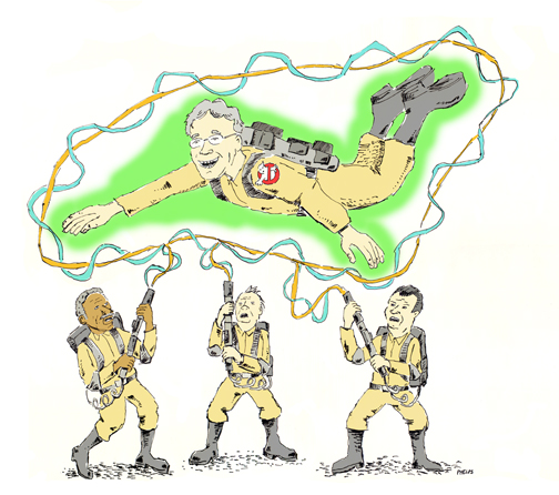 Harold Ramis and the Ghostbusters