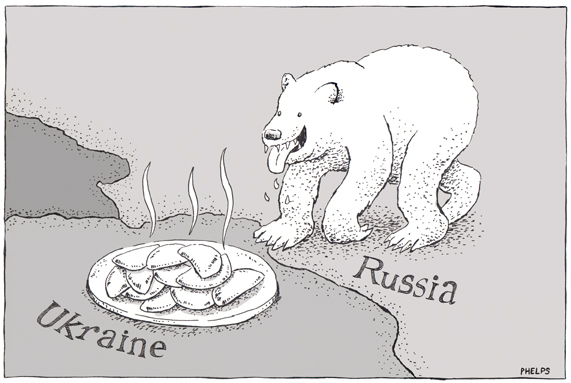 Tensions between Russia and the Ukraine continue.