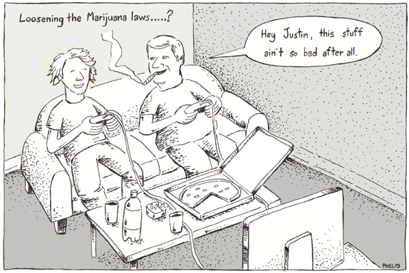 Conservatives are talking about loosening the marijuana laws.