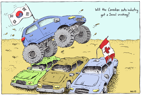Will the Canadian auto industry suffer from the free-trade deal with South Korea?
