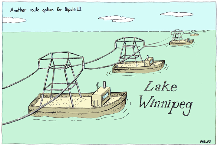 More debate as to whether the Bipole 3 line should run down the east or west side of Lake Winnipeg.