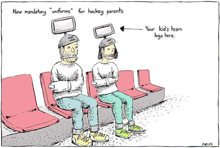 Hockey parents have been misbehaving at their kid's games.