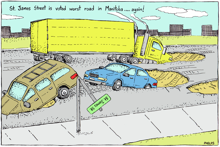 St. James Street is voted worst road in Manitoba.
